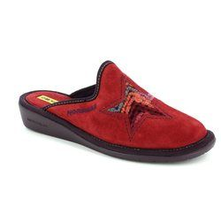 Nordikas Slippers & Mules - Red suede - 9162/AF STAR