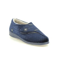 Padders Slippers - Navy - 4021-24 AMELIA D FIT