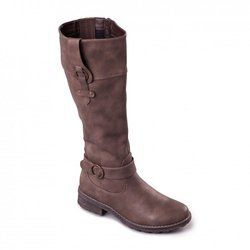 Padders Knee High Boots - Taupe - P217/21 CHICAGO 2E Fit