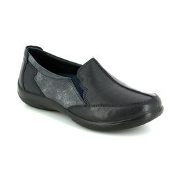 Padders Comfort Shoes - Navy - 0874/96 FLUTE 2E-3E FIT