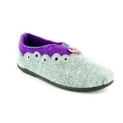 Padders Slippers & Mules - Grey multi - 4009/97 HANNAH 2E-3E FIT