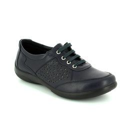 Padders Comfort Lacing Shoes - Navy - 0872/24 HARP 2E-3E FIT