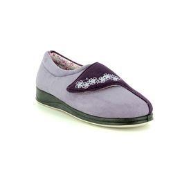 Padders Slippers & Mules - Purple - 4240/95 HUG COTTON LIN