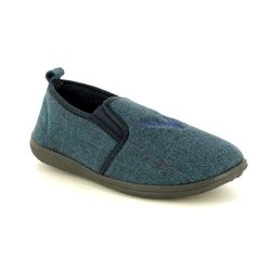 Padders Slippers & Mules - Navy Multi - 0489-96 HUNTSMAN G FIT