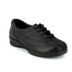 Padders Comfort Lacing Shoes - Black - 0358/38 KAREN 2 4E-6E FIT