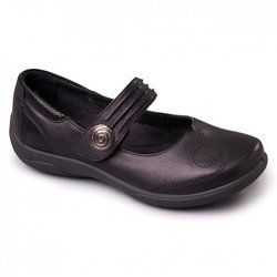 Padders Comfort Shoes - Black - 853/10 POEM 3E FIT