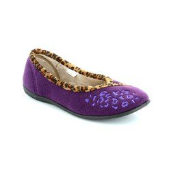 Padders Slippers & Mules - Purple - 0476/95 SAVANNAH E FIT