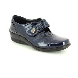 Padders Comfort Shoes - Navy patent - 0200/23 SIMONE E-2E FIT