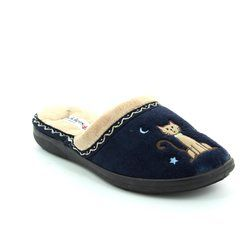 Padders Slippers & Mules - Navy - 0473/24 TABBY 2E FIT