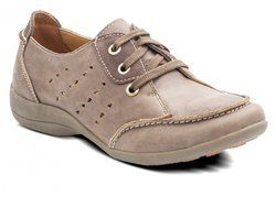 Padders Comfort Lacing Shoes - Brown - 015/11 WHEAT E FIT