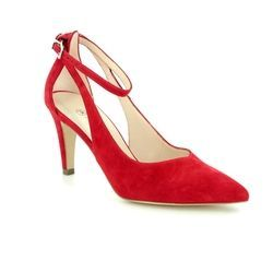 Peter Kaiser Heeled Shoes - Red suede - 76175/135 ELINE