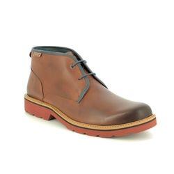 Pikolinos Chukka Boots - Tan Leather  - M6E8320/11 BILBAO BOOT