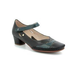 Pikolinos Court Shoes - Black multi - W6R5836/32 GOMERA BAR