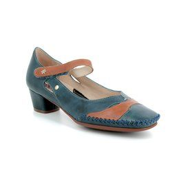 Pikolinos Court Shoes - Navy-tan - W6R5836/70 GOMERA BAR