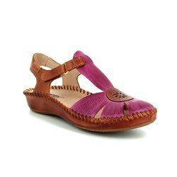 Pikolinos Closed Toe Sandals - Fuschia - 6550575/95 VALLARIA