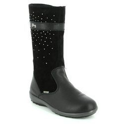 Primigi Girls Boots - Black suede or snake - 8567200/33 BEJA GORE TEX