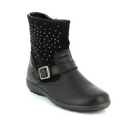 Primigi Girls Boots - Black suede or snake - 8569300/30 BEJA SHORT GORE-TEX