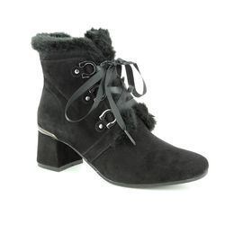 Regarde le Ciel Ankle Boots - Black Suede - 3071/32 ILLARY 09