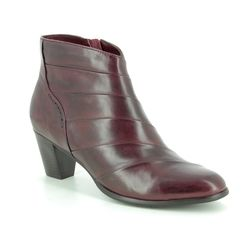 Regarde le Ciel Boots - Ankle - Wine leather - 9008/81 SONIA  38