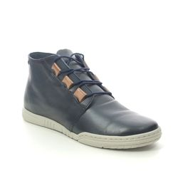 Relaxshoe Fashion Ankle Boots - Navy Leather - 627011/72 ANYA