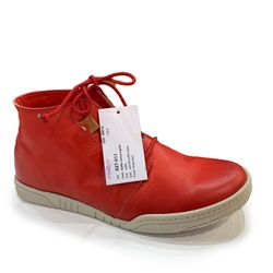 Relaxshoe Fashion Ankle Boots - Red leather - 627011/80 ANYA