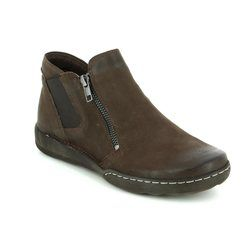 Relaxshoe Boots - Ankle - Brown nubuck - 215160/20 CALYHITWO