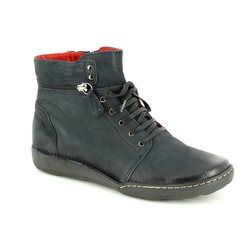 Relaxshoe Boots - Ankle - Navy nubuck - 215154/70 CALYHIZE