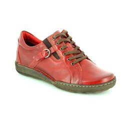 Relaxshoe Comfort Lacing Shoes - Red - 215104/8 CALYPSO