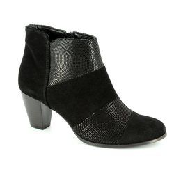 Relaxshoe Boots - Ankle - Black suede - 100180/30 COLUMBA