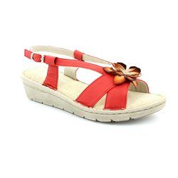 Relaxshoe Sandals - Red - 132102/80 FLORAL