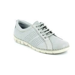 Relaxshoe Comfort Lacing Shoes - Light Grey - 200109/00 NAOLA