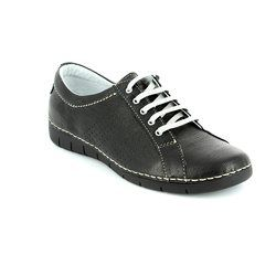 Relaxshoe Comfort Lacing Shoes - Black - 200109/30 NAOLA