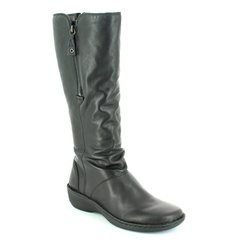 Relaxshoe Knee High Boots - Black - 291004/30 SUFFLONG