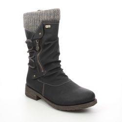 Remonte Mid Calf Boots - Black - D8070-01 ANDROS TEX