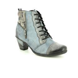 d177e1cfa5aa Remonte Annitela D8782-14 Black-Grey Multi ankle boots