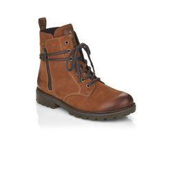 Remonte Lace Up Boots - Tan nubuck - D8473-22 BRANDIT TEX