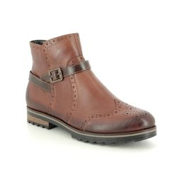 Remonte Chelsea Boots - Tan Leather  - R2278-24 CHELSEA ZIG 85
