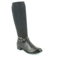 Remonte Knee High Boots - Black - R6452-01 FITONI LEG