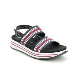 Remonte Comfortable Sandals - Navy Red White - R2950-14 LENIA