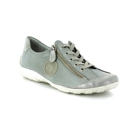Remonte Comfort Lacing Shoes - Light Grey - R3443-11 LIVZIP 81