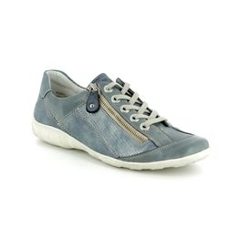Remonte Comfort Lacing Shoes - Denim blue - R3419-16 LIVZIPA