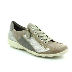 Remonte Comfort Lacing Shoes - Beige - R3419-80 LIVZIPA