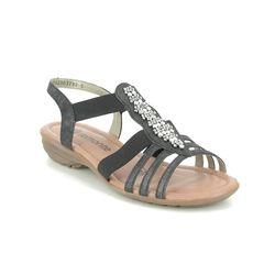 Remonte Comfortable Sandals - Dark Grey - R3660-45 ODET