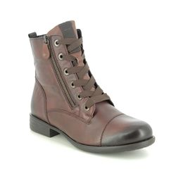 Remonte Lace Up Boots - Brown leather - R0980-24 PEACHONT