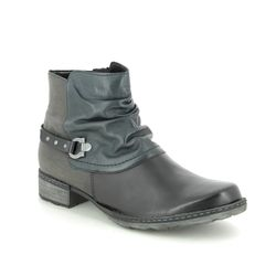 Remonte Ankle Boots - Black leather - D4359-02 PEESTRA