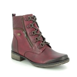Remonte Boots - Ankle - Wine leather - D4358-35 PEEZY TEX