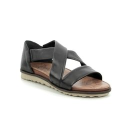 Remonte Comfortable Sandals - Black leather - R2755-01 PROMISE