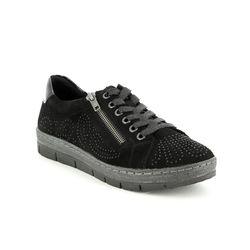 Remonte Comfort Lacing Shoes - Black - D5811-02 RAVENAL
