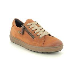 Remonte Comfort Lacing Shoes - Tan Nubuck - D4400-22 SITANES