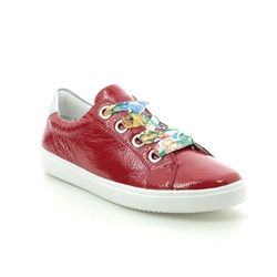 Remonte Comfort Lacing Shoes - Red patent - D1400-33 SOFTY